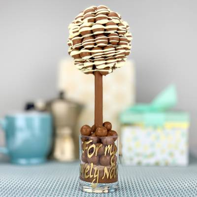 Personalised Malteser Drizzle Funky Sweet Tree 25cm
