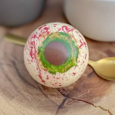 Hot Chocolate Eyeball Bombs