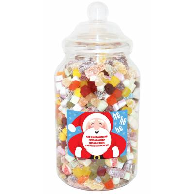 Personalised Santa Giant Sweet Jar