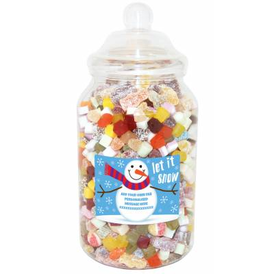 Personalised Snowman Giant Sweet Jar