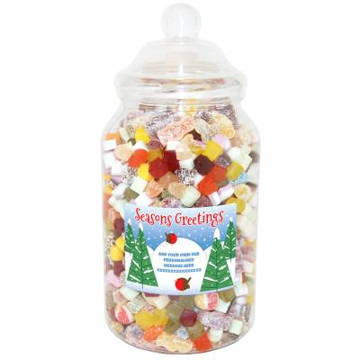 Personalised Robins Giant Sweet Jar