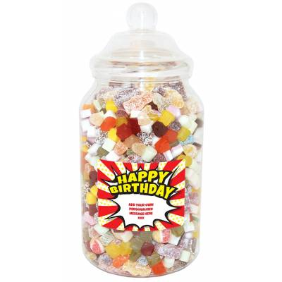Personalised Birthday Burst Giant Sweet Jar