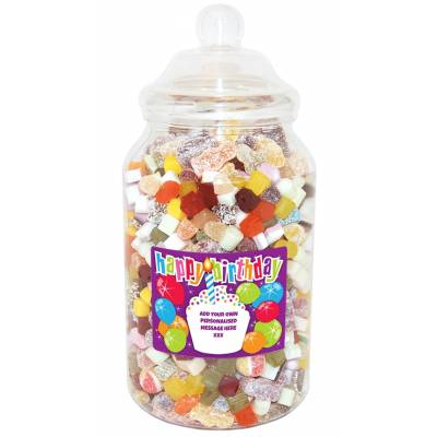 Personalised Birthday Cake Giant Sweet Jar