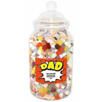 Personalised Dad Giant Sweet Jar