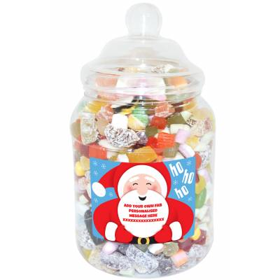 Personalised Santa Large Sweet Jar