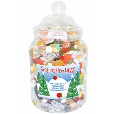 Personalised Robins Large Sweet Jar
