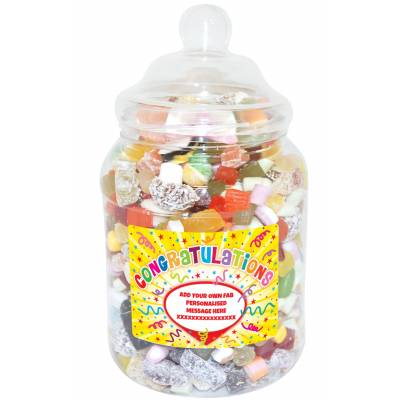 Personalised Congratulations Large Sweet Jar