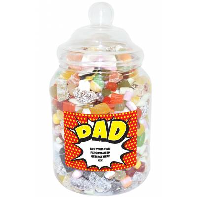 Personalised Dad Large Sweet Jar