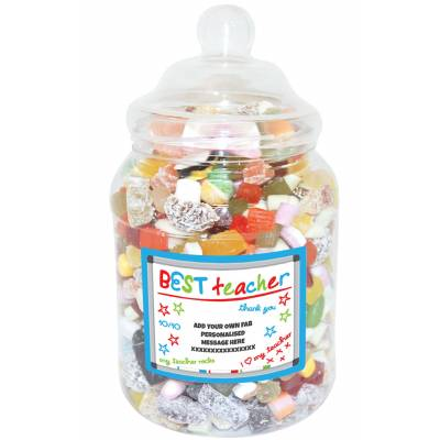Personalised Best Teacher Large Sweet Jar - Teacher Gifts