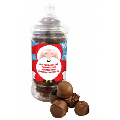 Personalised Santa Belgian Chocolate Jar