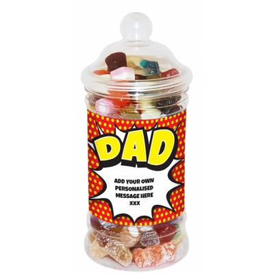 Personalised Dad Small Sweet Jar