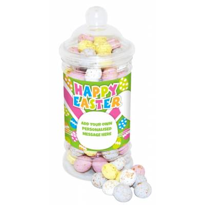 Personalised Mini Eggs Sweet Jar