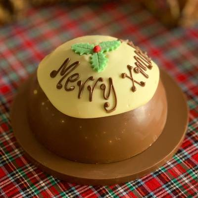 Personalised Large Christmas Smash Pud