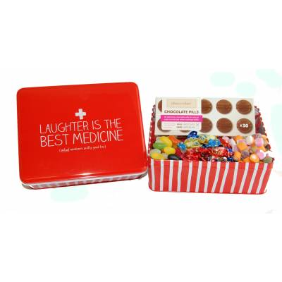 Laughter is the Best Medicine Sweet Tin - Medicine Gifts