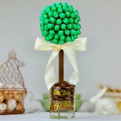 Lindor Mint Egg Chocolate Tree - Mint Gifts
