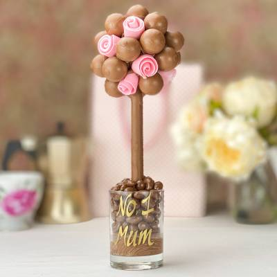 Lindor Chocolate Tree With Pink Roses