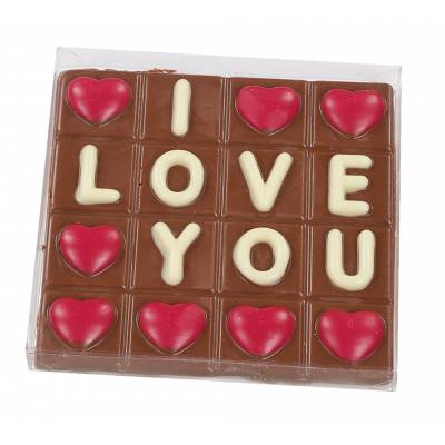 I Love You Chocolate Slab
