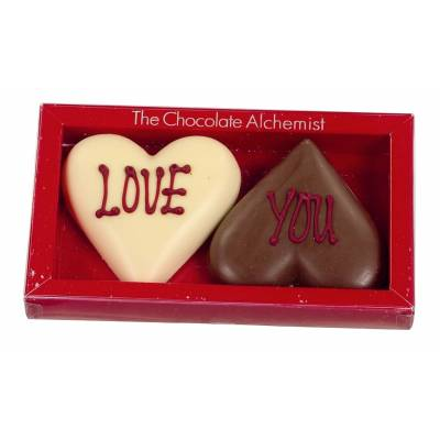 Click to view product details and reviews for Love You Milk And White Chocolate Hearts.
