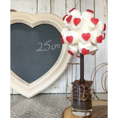 Marshmallow and Red Haribo Heart Sweet Tree 25cm