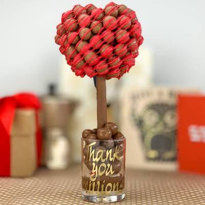 Malteser Drizzle Valentines Heart Tree