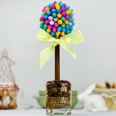 Personalised M and M's Chocolate Eggs Tree