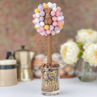 Mini Eggs and Malteser Bunny Tree