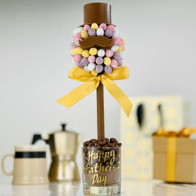 Cadbury Mini Egg Hat and Moustache Tree