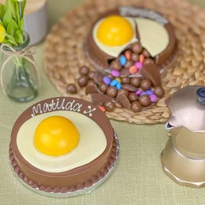 Mini Fried Egg Smash Cake