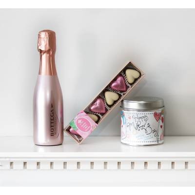 Happy Mothers Day Prosecco and Candle Gift