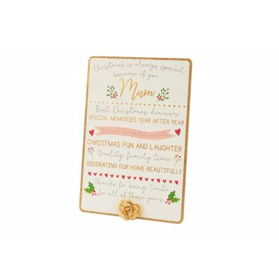 Special Mum Christmas Plaque