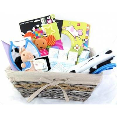 Deluxe New Baby Boy Hamper