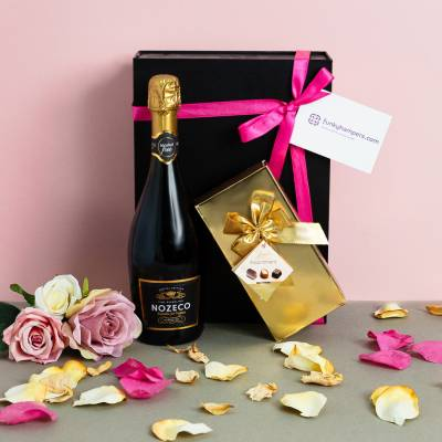 Alcohol Free Prosecco and Belgian Chocolates Hamper