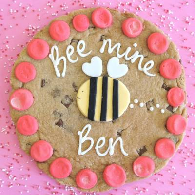 Bee Mine Personalised Giant Chocolate Cookie