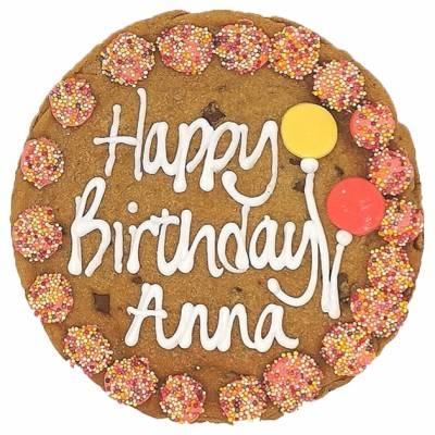 Personalised Giant Pink Birthday Cookie