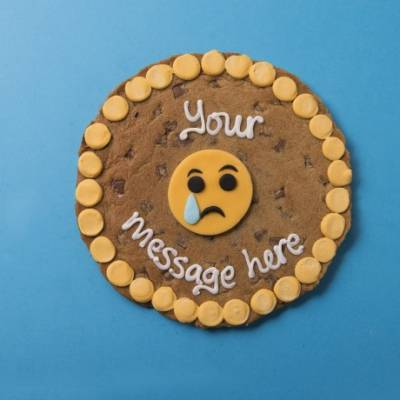 Personalised Giant Sad Emoji Cookie