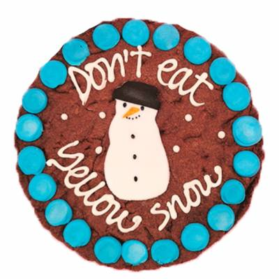 Personalised Snowman Giant Cookie