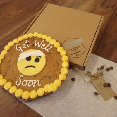 Personalised Get Well Soon Emoji Cookie