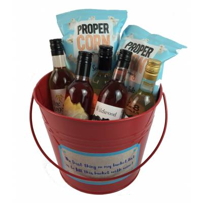 Pail Of Wine Gift
