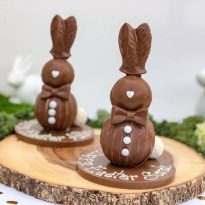 Personalised Chocolate Easter Bunny