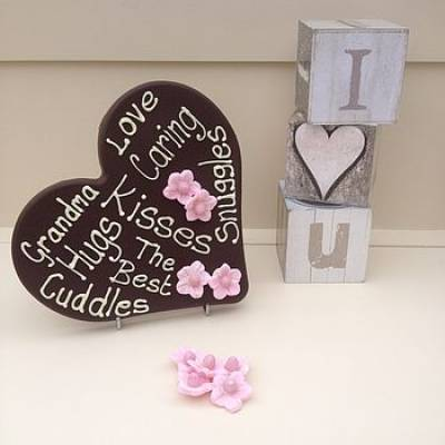 Personalised Giant Chocolate Love Heart