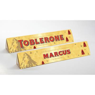 Personalised Christmas Toblerone Bar