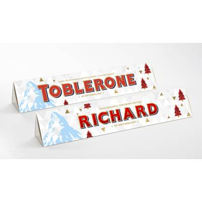 Personalised Christmas White Toblerone Bar