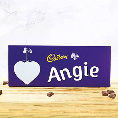 Personalised Giant 850g Cadbury Dairy Milk Heart Design