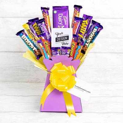 The Deluxe Cadburys Chocolate Pic Bouquet