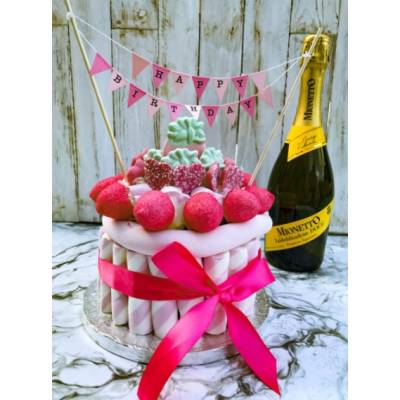 Medium Pink Candy Cake - 18th Birthday Gifts