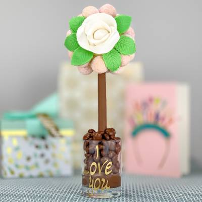 Pink Champagne Truffle Tree