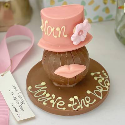 Personalised Chocolate Orange With Pink Hat and Lips