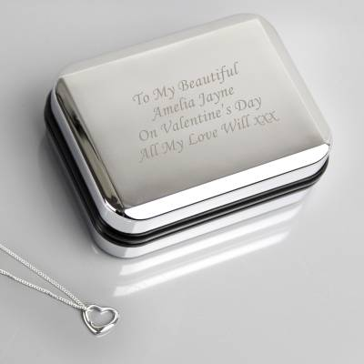 Heart Necklace With Personalised Box