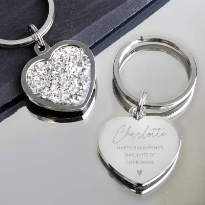 Personalised Name and Message Heart Trinket Box