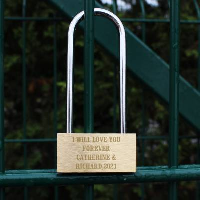 Personalised Any Message Padlock - Anniversary Gifts